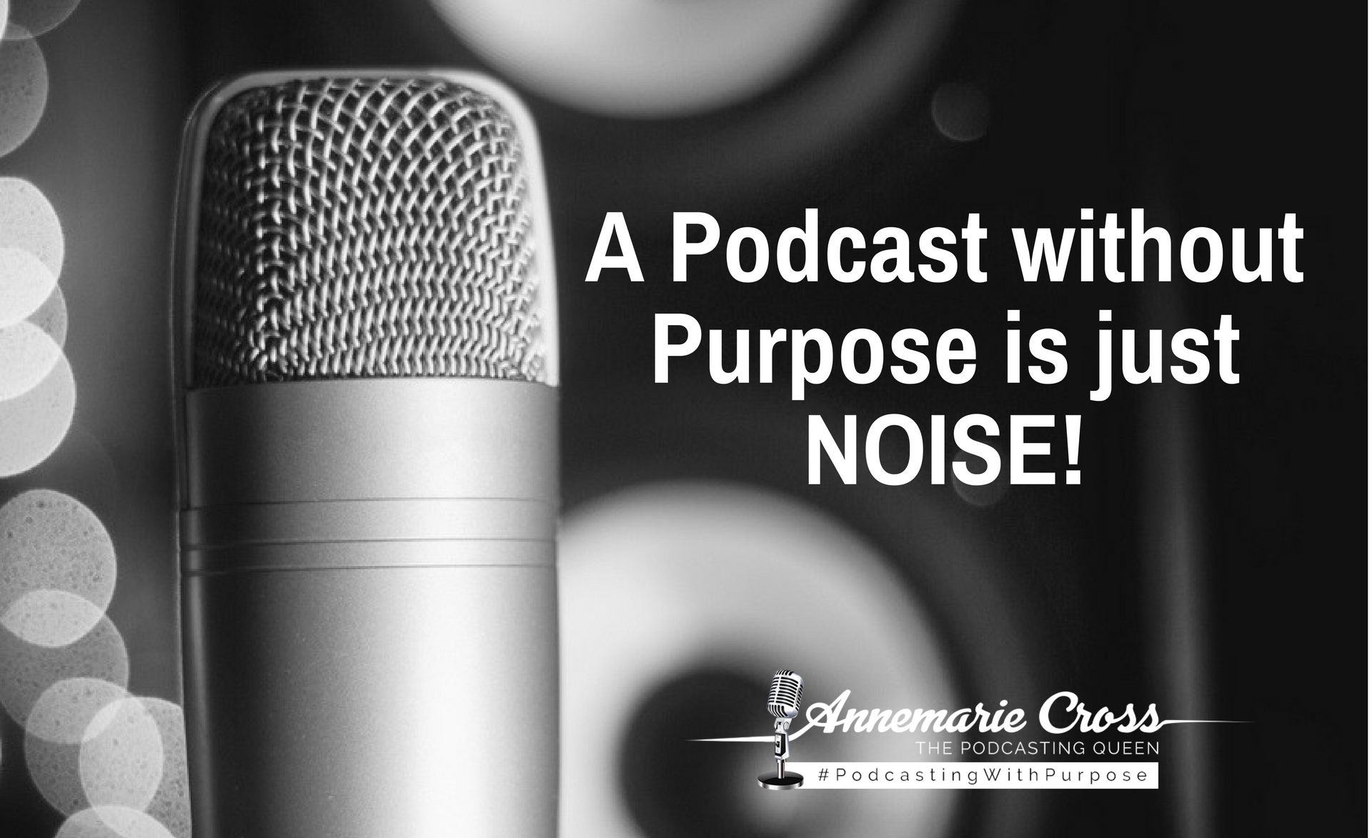 A Podcast Without Purpose is JUST Noise